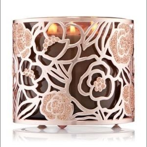 Rose Gold Bath & Body Work 3 Wick Candle Holder